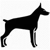 This image has an empty alt attribute; its file name is doberman_icon.jpg
